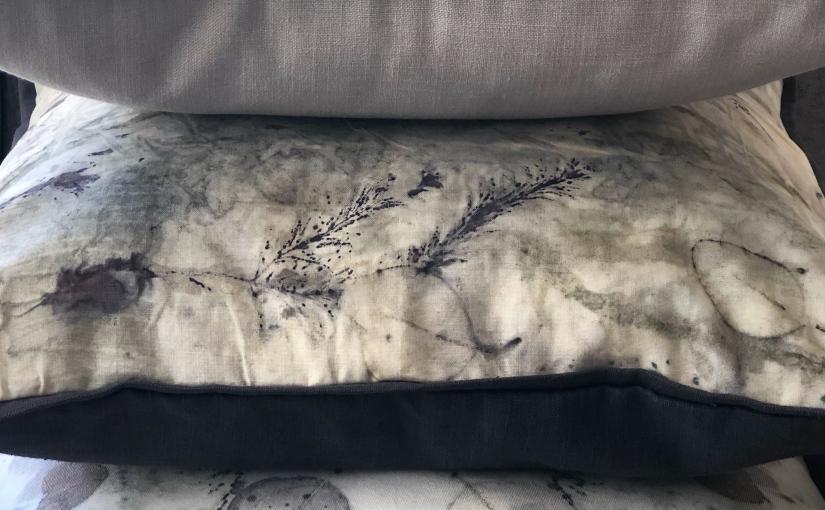 Eco printed cushioncovers